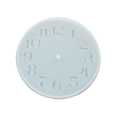 CEMENT CONCRETE SILICONE Mold DIY Craft Clock Making Clay