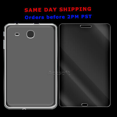 Tempered Glass Screen Protector or Case For Samsung Galaxy Tab E 8.0 T377 Tablet