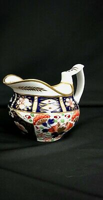 Rare Antique Royal Crown Derby Imari Creamer Witches Pattern 6299