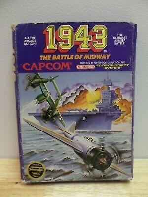 1943: The Battle of Midway BOX ONLY for Nintendo Nes Capcom
