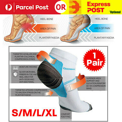Plantar Fasciitis Foot Pain Relief Sleeves Heel Ankle Sox Compression Socks OF