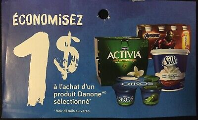 Lot of 20 x 1.00$ Danone Products Coupons Canada
