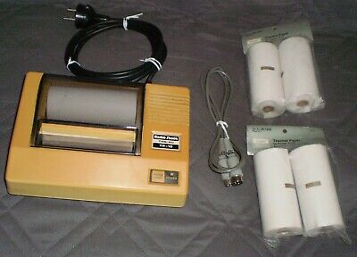 RADIO  Shack TANDY TRS-80 TP-10 THERMAL PRINTER - INCLUDED CABLE & 4 X NEW ROLLS