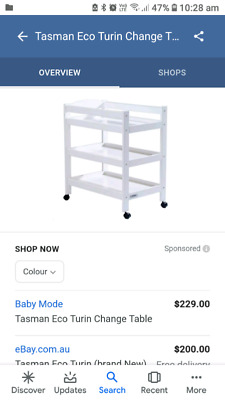 Baby change table available