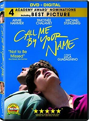 Call Me by Your Name DVD + Digital Armie Hammer Romance discs1 17-year-old R DVD
