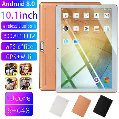 10.1 Inch Android 8.0 HD Tablet PC Computer 64GB Ten Core WIFI 4G Dual Camera