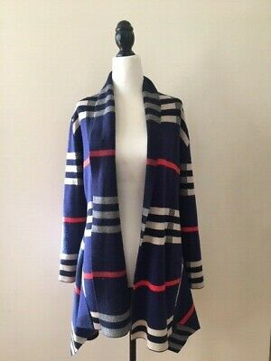 Vintage blue red white plaid swing wrap top - Excellent condition