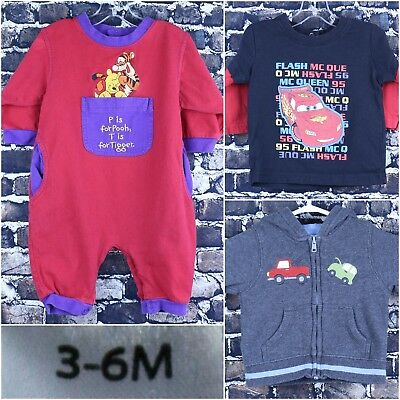 Disney Shirt Lot Size 3-6 Months Winnie The Pooh Cars Lightning Mcqueen Gymboree