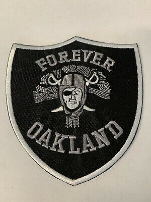 OAKLAND RAIDERS NFL Forever Oakland Raider Nation Football Iron-on PATCH!