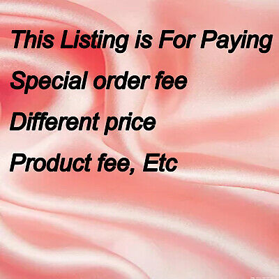 This Listing is For Paying  special order fee,different price,product fee, Etc