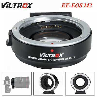 Viltrox EF-EOS M2 AF Lens Adapter 0.71x for Canon EF Lens to Canon EOS-M3 M50 ID