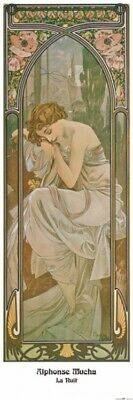 Alphonse Mucha - Times Of Day Night's Rest Poster Art Print (47x16in) #109764