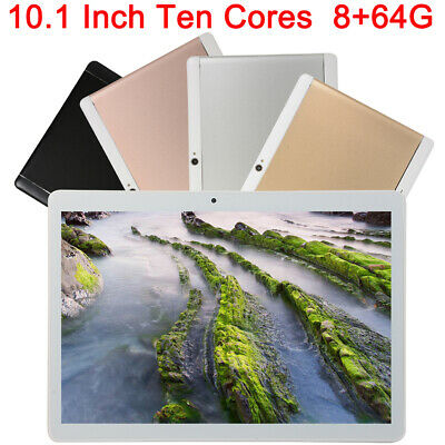 10.1 inch Tablet 8+64G Android 8.0 Bluetooth PC ROM Wi-Fi+3G+4G 2SIM with GPS