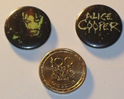 """""""Alice Cooper Badges"""" Two (2) Of , C2005 Excellent Mint Condition ."""