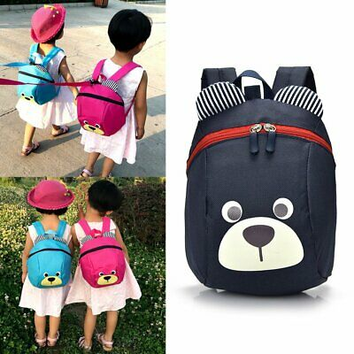 Cartoon Toddler Kids Walking Safety Harness Strap Bag Backpack With Reins TU