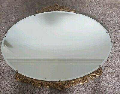 Antique Gold Mirror Oval