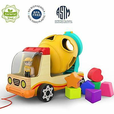 TOP BRIGHT Wooden Shape Sorter Toys for Toddlers Learning Sort and Match for 1 2