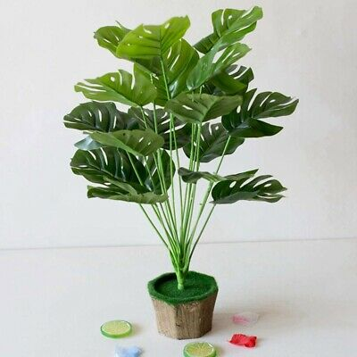 Realistic Look Green Decorative Artificial Indoor Outdoor Plant Tree Pot Simple