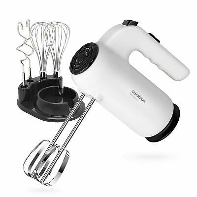 Best Hand Mixer 5-Speed Electric Stainless Steel Attachments Beater Cake Baking
