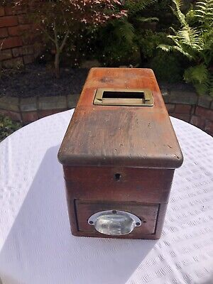 Antique Wooden O'Brien's Self Closing Till Cash Register Shop