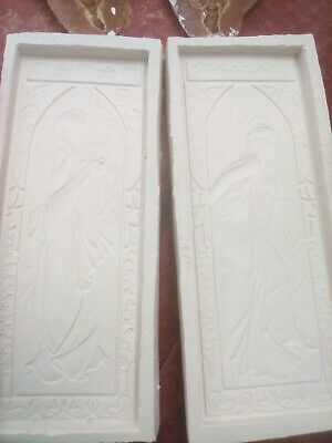 Moulds For Plaster Of Paris Two Art Deco Ladies Two Green Man