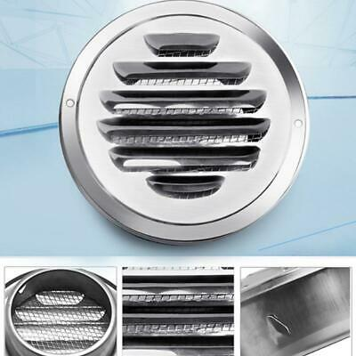 Round Ducting Ventilation Cover Ceiling Wall Circle Air Vent Grille Accessory T