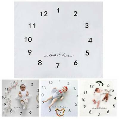 Newborn Baby Milestone Blanket Mat Photography Prop Monthly Flowers Numbers AU
