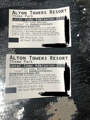 X2 alton towers tickets Valid For Any Date