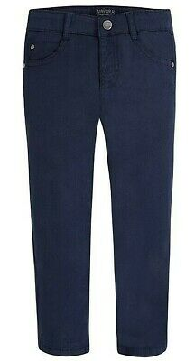 NWT Mayoral Boys Sizes 4-5-7-8-9 Navy Blue Twill 5-Pocket Chinos Pants Trousers