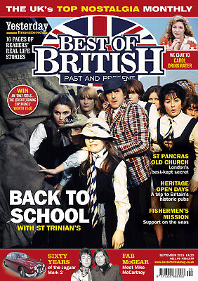 Best Of British Magazine September 2019 (St. Trinians, St. Pancras, Jaguar Mk.2)