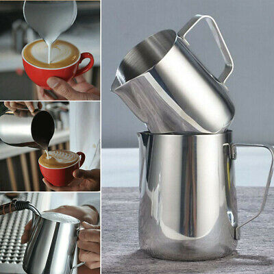 US Stainless Milk DIY Tool Craft Cup Coffee Latte Frothing Art Jug Pitcher Mug