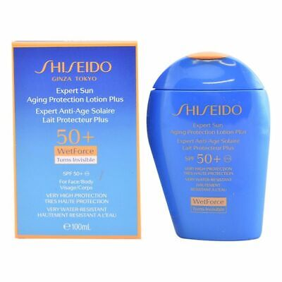 Lotion Solaire Expert Sun Aging Protection Shiseido Spf 50 (100 ml)