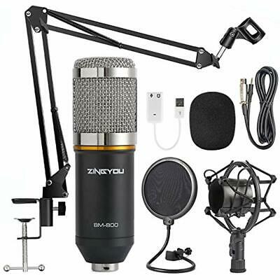 Condenser Microphones ZINGYOU Bundle, BM-800 Kit With Adjustable Suspension Arm,