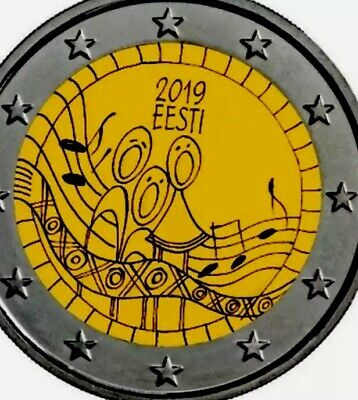 Estonia Coin 2€ Euro 2019 Commemorative Song Festival New UNC From Roll