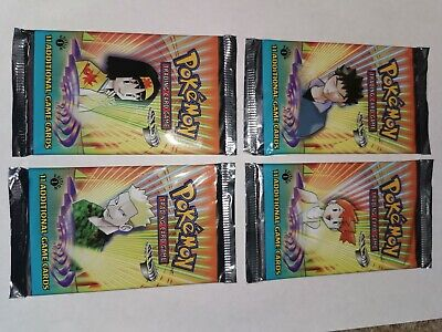 1st Edition Gym Heroes Booster Packs. All 4 Artworks!