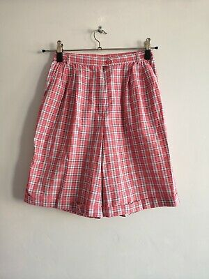 St Michael - Marks & Spencer - Vintage Pink & White Check Summer Shorts Size 12