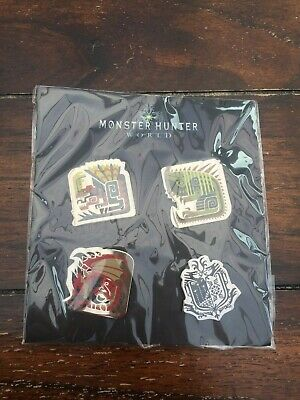Capcom Monster Hunter World Pin Badges - Set of 4 Enamel