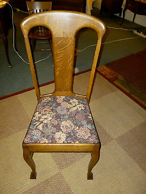 antique oak chair t back with claw feet quartersawn oak refinished reglued