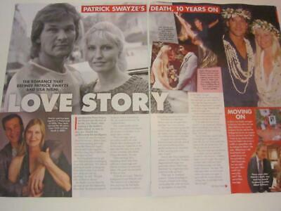 PATRICK SWAYZE Lisa Niemi*3 Pg AUGUST 2019*Magazine Clipping*10 Years On*