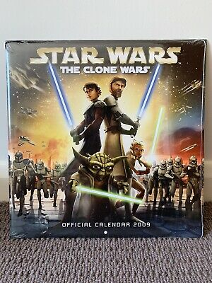 Star Wars Official Calendar 2009 The Clone Wars Collectable