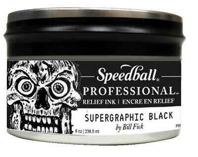 Speedball Professional Relief Ink, 8 Ounces, Supergraphic Black
