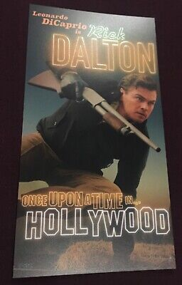 ONCE UPON A TIME IN HOLLYWOOD Leonardo DiCaprio Odeon Promo Card-Tarantino's 9th