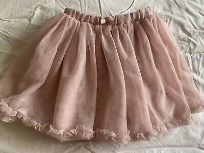 H&M GIRLS  PINK PARTY  TUTU TULLE PUFFBALL XMAS SKIRT 7/8 Yr