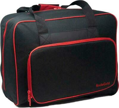 foolsGold Pro Thick Padded Sewing Machine Bag Carry Case (Black/Red)