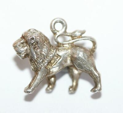 Small Leo The Lion Sterling Silver 925 Vintage Bracelet Charm Signed PPLd