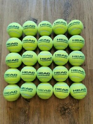 25 Used Tennis Balls, Head Championship Variety, Great Dog Toys!!
