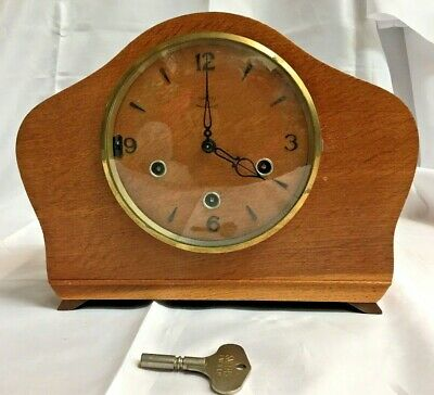 Vintage 1950s Smiths mechanical mantel clock - Westminster Chime - fully working