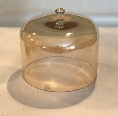 Vintage French Glass Cloche or Dome Hand Blown Garden Patio Bell Jar NICE!