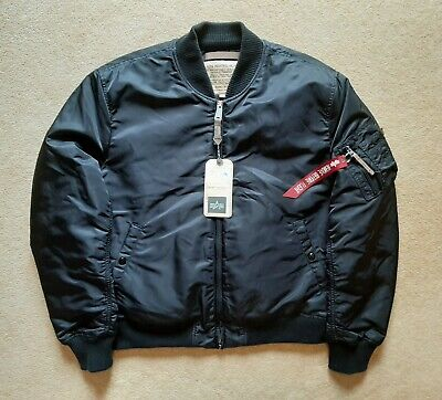 reputable site 54edc c8113 ALPHA INDUSTRIES MA-1 VF 59 Flight Jacket, Black Bomber, 2XL, EX CON with  TAGS