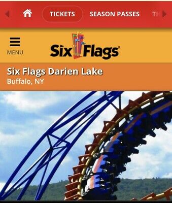2 Admission Tickets to Six Flags Darien Lake Plus Parking Pass